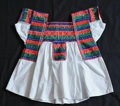 Mexican Blouse Nahua Tlacoxcalco (Teyacapan) Tags: mexico mexican textiles tehuacan puebla embroidered bordados blouses mexicanas blusas nahua tlacoxcalco
