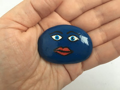 Funny faces painted stone (djelem_djelem) Tags: beach stone painted emoticons