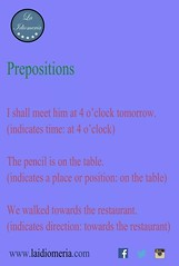 Have a good week and study prepositions!  #laidiomeria #prepositions #grammar #englishschool #academiadeidiomas (laidiomeria) Tags: grammar prepositions englishschool academiadeidiomas laidiomeria