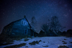 Stuck in Winter (Thousand Word Images by Dustin Abbott) Tags: ca longexposure snow ontario canada cold stars pembroke photography nightscape astrophotography nightscene fullframe ramshackle petawawa milkyway 2016 photodujour canoneos6d thousandwordimages dustinabbott dustinabbottnet adobephotoshopcc tamronsp1530mmf28divcusd vanguardabeopro283attripodgh300thead adobelightroomcc alienskinexposurex