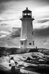 Peggy's Cove bag  piper (Ken Kartes) Tags: lighthouse novascotia bagpiper