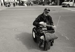 The Ukulele Man (Sherlock77 (James)) Tags: people man calgary downtown ukulele streetportrait