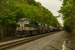 NS 174 at Waring (travisnewman100) Tags: railroad atlanta heritage train georgia ns district north norfolk southern division ge sou freight 174 manifest waring emd sd60m 8099 es44ac
