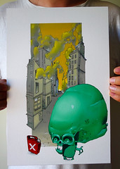 MINTY skULL  - limited series prints!!! (SRCARAMELOS) Tags: new city streetart newyork dawg acdc inca print skull arte sold prints series sez minty cyrus burner sick skully candyman 2016 novedad edsick 2k16