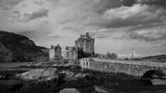 Eilean Donan B&W (gfergus) Tags: castle history clouds highlands eilean donan scotalnd
