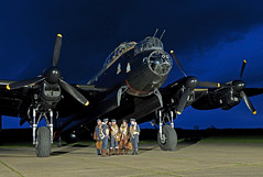 Evening Departure (andrew_@oxford) Tags: heritage aviation events centre lincolnshire east lancaster timeline bomber command reenactment reenactors raf avro aircrew kirkby