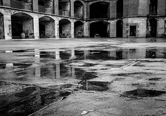 Fort Point Reflected.jpg (Darren Berg) Tags: sanfrancisco puddle decay military relection