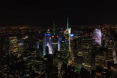 Times Square view (robe_mac) Tags: city longexposure night arquitectura cityscape nightscape timessquare silueta urbanscape largaexposicion
