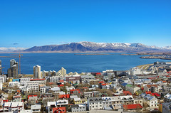 A Part of Central Reykjavk (Coldpix) Tags: summer sunshine iceland bluesky reykjavik esja mountainesja reykjavikcity