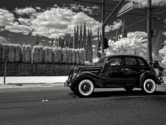 driving down ephemeral street (** RCB **) Tags: ford infrared 1937 hss sliderssunday