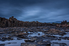 Bombo Quarry Looking Back (tonyhawkinsphotography) Tags: world sea abstract abandoned moody australia stormy mining another kiama quarry formations basalt bombo