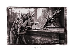Paris n45 Pere Lachaise (Nico Geerlings) Tags: sculpture paris france cemetery 50mm perelachaise summilux parijs cimetiere nicogeerlings leicammonochrom ngimages nicogeerlingsphotography