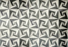 Spiral coaster tessellation (David Mitchell) (claudiaboujdaa) Tags: art paper paperart artwork origami tessellation davidmitchell modularorigami