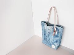 16.03.10.SM.LI.01 (Scout & Catalogue) Tags: travel school beach leather bag handmade indigo diaper canvas tote tassel handdyed scoutcatalogue