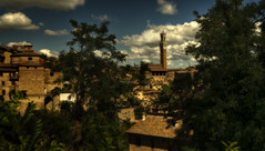 Overlooking the Past (Frags of Life) Tags: green architecture buildings gold golden town ancient sony sienna tuscany past utopia romanticism idylic ilce7m2