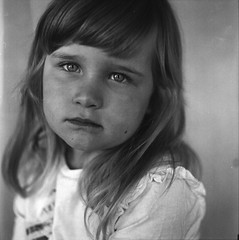 Girl (Shooting Ben) Tags: portrait blackandwhite mamiya film girl beautiful beauty mediumformat children child natural young 120film portraiture c330 caffenol nofilters filmisnotdead