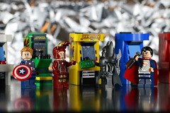 You win, Yours was better. (Frost Bricks) Tags: america lego ironman superman captain batman minifigures