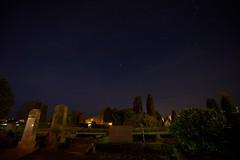 The graveyard under the stars (Budoka Photography) Tags: graveyard night stars outdoor dusk nightsky nightphoto sonyalpha7 starheaven nightheaven sonyvariotessartfe1635mmf4zaoss hkanolsson holsson shcolsson budokaphotography