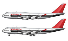 Northwest Airlines 747-451 Illustration Over White Background (CATHAY DRAGON) Tags: illustration airplane nw northwest drawing aircraft aviation jet whitebackground boeing sideview airliner northwestairlines 747400 widebody airtransportation commercialairliner commercialaircraft n663us 747451 baremetallivery norebbocom