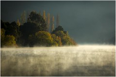 Magic Carpet - Autumn Morning At New Norfolk (Trains In Tasmania) Tags: trees mist river view derwentvalley australia scene scenary tasmania derwentriver riverderwent newnorfolk earlylighting canoneos550d trainsintasmania stevebromley ef35350mm13556lusm