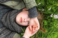 Awakening (Lisa Guhl) Tags: flowers blue portrait girl beautiful grass spring eyes outdoor lisa guhl lisaguhl