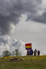 Batalla de Lopera 1936; Recreacin histrica (M. Mndez) Tags: republica espaa clouds andaluca republic fiestas flags civilwar nubes urbana es jaen banderas guerracivil lopera milicianos