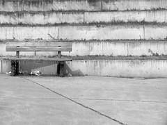 Please sit down (Lukinator) Tags: wood shadow white black stairs und stair please down treppe finepix sit fujifilm simple holz weiss schatten schwarz treppen uneven bitte hs20 simpel hinsetzen unequally ungleichmsig unebene