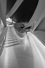 Staircase in Giorgio Armani Store on 5th Avenue, NYC (nianci pan) Tags: nyc urban abstract building geometric fashion shop architecture pattern geometry manhattan sony line staircase pan curve  giorgio armani   sonyalphadslr nianci sonyphotographing