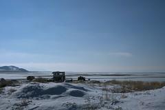 Camp (again) (drl.) Tags: ranch winter camp lake snow island desert salt atv trailer rancher camper gsl encampment herder stansbury