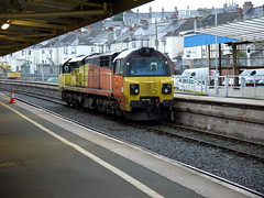 Plymouth (DarloRich2009) Tags: plymouth colas 70802 plymouthstation plymouthnorthroad class70 colasrail plymouthrailwaystation colasrailfreight