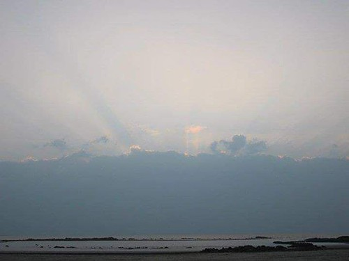 #beautiful #sunset at the #beach #nofilter #nature #sky