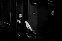 ((Jt)) Tags: portrait blackandwhite girl monochrome train asia streetphotography korea 12mm asiangirl travelphotography koreangirl olympusep3 jtinseoul