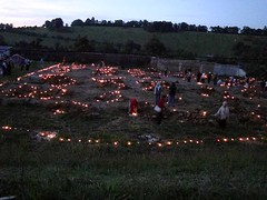 allumage des bougies autour des pieux des fondations