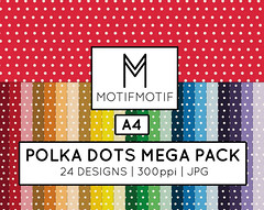 Digital Paper Polka Dots Mega Rainbow Variety Pack Seamless for Blog Backgrounds | Instant Download (motifmotifdesign) Tags: art digital scrapbooking paper design decorative surface clip pillow cover clipart throw packs
