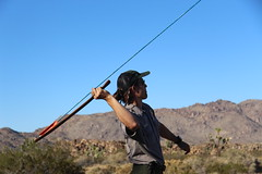 Atlatl throwing demonstration (Joshua Tree National Park) Tags: nationalpark ranger joshuatree joshuatreenationalpark rangerprogram