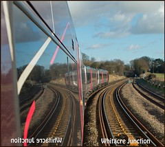 Whitacre Mirrored (Resilient741 Photography) Tags: sun reflection sunshine train reflections mirror track br image tracks rail railway sunny trains junction class full turbo british curve railways 170 turbostar whitacre