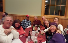 Table shot at the spaghetti supper