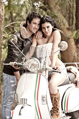 young attractive couple sitting together with scooter (Stockholm Fashion Photography) Tags: wood travel trees portrait people woman white man black sexy male green love boyfriend beautiful beauty smiling fashion bike female youth forest laughing southafrica fun outdoors happy togetherness sand girlfriend couple sitting adult affection transport young relaxing lifestyle happiness scooter romance lovers sensual human jacket dating attractive romantic casual dirtroad brunette closeness caress leaning caucasian