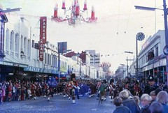 George St Parade, Dunedin (Lim SK) Tags: new st festival george parade zealand dunedin 1972