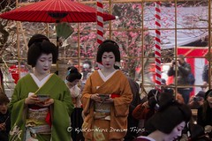 Tea ceremony at the Kitano Tenman-g Shrine () in Kyoto! (KyotoDreamTrips) Tags: japan kyoto teaceremony shinto   plumblossomfestival  kitanotenmang sugawaranomichizane