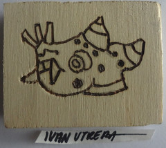glifo pirograbado en madera (ivanutrera) Tags: wood wooden madera aztec grabado azteca prehispnico glifo pirograbado