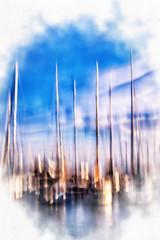Pastel 9 (Alexandre66) Tags: france port canon bateaux 66 l 5d usm f28 mkiii 2015 saintcyprien 1635mm pyreneesorientales poselente