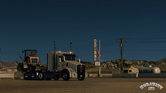 ats_00127 (ets2.morawatz) Tags: road sunset hot southwest west truck design day parking motel dirt dust heavy semitruck breaker 104 ats kenworth heavyload t800 10100 picklepark morawatz americantrucksimulator