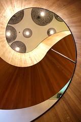 Fibonacci (richardr) Tags: uk greatbritain england building london english architecture modern stairs spiral lights hotel europe european unitedkingdom britain contemporary interior staircase british swirl curve southlondon europeanunion southwark spiralstaircase citizenm