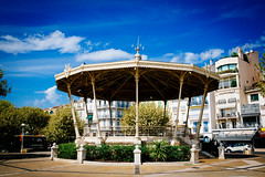Nice, France - Band Stand (Regan Gilder) Tags: city summer sky france clouds canon stand mediterranean cannes bluesky bandstand southoffrance northsoutheastwest canoneos5dmarkiii