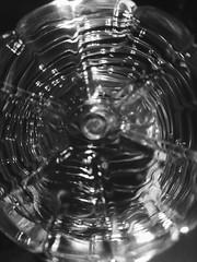 Water bottle butt (ruveeh) Tags: blackandwhite white abstract black water bottle waterbottle cameraangle