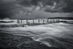 Dark Overflow (Crouchy69) Tags: ocean sea sky white seascape storm motion black beach water pool rain clouds sunrise landscape flow dawn coast waves north sydney australia curl overflow