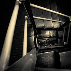 untitled (1 of 1)-58 (christopherdvoran,jr) Tags: yellow sepia stairs spiral long exposure heaven pattern glare tripod steps rail tint stairway step repetition bulding t3i