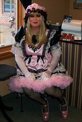 Pink/Black Maid (jensatin4242) Tags: sissy transvestite maid crossdresser petticoat sissymaid jensatin