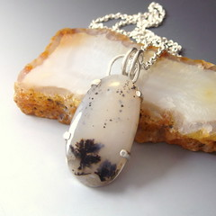 Agate w Dendrites - Tree scape - Snowy field (SCJ Jewelry Design) Tags: trees snow agate silver with dendrites scjjewelrydesign scjjewelrydesignetsycom sandycahilljohnson